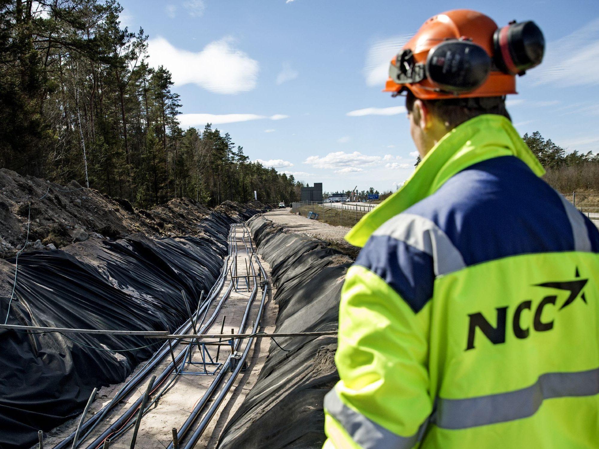 Bild på byggarbetare från e-learning om miljö